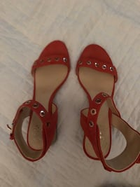 Vince Camuto Strap Heels - Coral (Size 7.5/8)