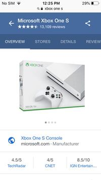white Xbox One S console with controller screenshot Milwaukee, 53208