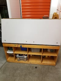 white and brown wooden TV hutch New York, 10465
