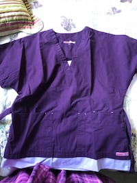 Scrub tops size small-medium