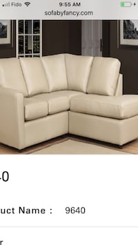 white leather tufted sectional sofa Toronto, M9V 4J9
