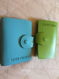 two green and blue leather wallets 旧金山, 94158