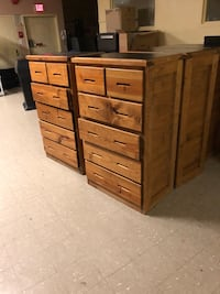 Brown wooden 5-drawer tallboy dresser Hyattsville, 20781