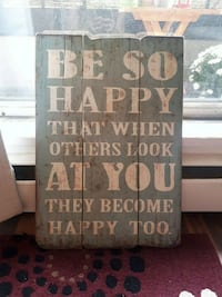 Wall hanging inspirational wood sign Calgary, T2T 3L9