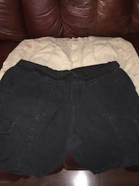 faded glory shorts size 10 black size 14 tan Copperas Cove, 76522