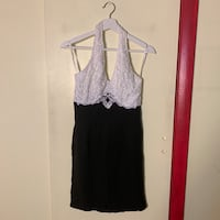 Beautiful Laced Black & White Dress. Dress is above the knee.  Dumont, 07628