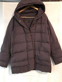 Free People puffer coat, hooded, snap front Damascus, 20872