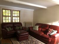 Leather family room seating