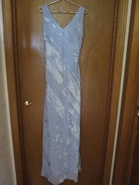 blue and white floral spaghetti strap dress St. Catharines