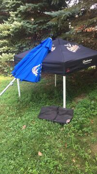 black and blue canopy tent and umbrella Hampstead, 21074