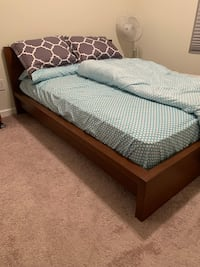 Malm double sized bed frame (mattress and sheets not included) and 3 drawer dresser set Rochester Hills, 48307