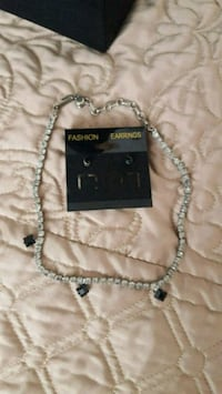 black stone necklace with black studs set Grants Pass, 97526