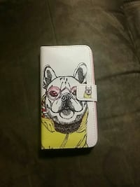white French bulldog print leather wristlet Winnipeg, R2P 2E1