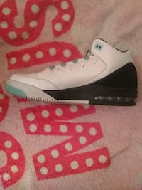 white-and-black Air Jordan basketball shoes Fayetteville, 28312