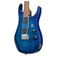 blue and black stratocaster guitar Lewisville, 75067