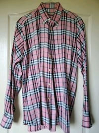 Pink Burberry button up XL  Freehold, 07728