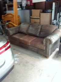 Leather couch.  Full size.  Custom made.  Estate A