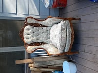 antique chair Custom carved mid century