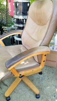 Vintage Leather Office Swivel Chair Placerville, 95667
