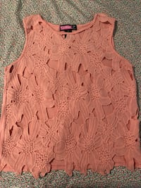 women's pink floral sleeveless top Gaithersburg, 20878