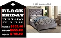 IF-5890 Upholstered Bed Toronto
