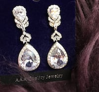 Cubic Zirconia earrings (brand new) Toronto, M5V 1N4