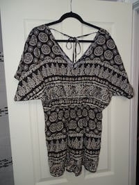 Romper with tie up back