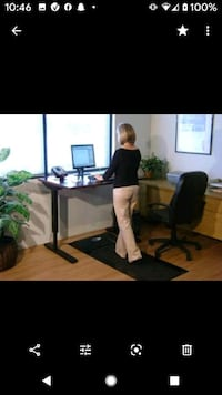 Adjustable treadmill desk with treadmill
