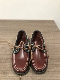 pair of brown leather boat shoes Toronto, M3J 0L1