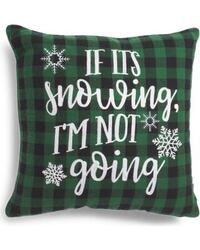 Brand new pillow - if it's snowing I'm not going