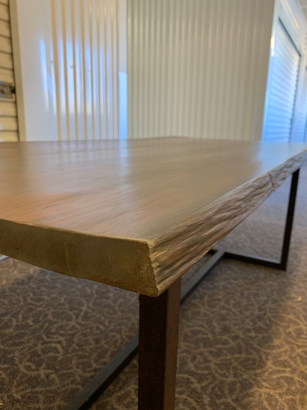 Solid Wood Slab Dining Room Table