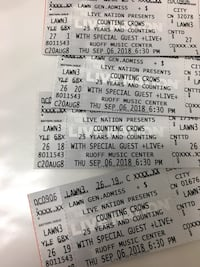 2 Counting Crows Tickets for Noblesville In Thursday sept 6 Noblesville