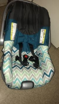 and green chevron car seat carrier
