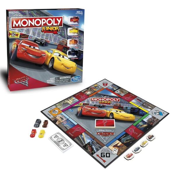DISNEY CARS 3 MONOPOLY JUNIOR (NEW!)