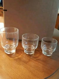 Glass tumblers three sizes set of 8 each Winchester, 22601