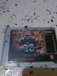 Terrance West NFL trading card