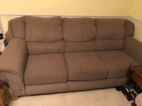 Brown fabric 3-seat sofa Fayetteville, 28303