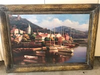 brown wooden framed painting of house near body of water,  Corona, 92882
