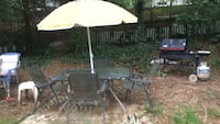 black and white patio table set Falls Church, 22046