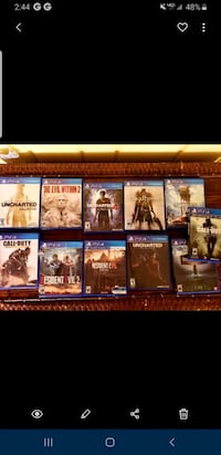 Ps4 videogames , call of duty, resident evil,  bloodborne $10 each  Springfield, 22150