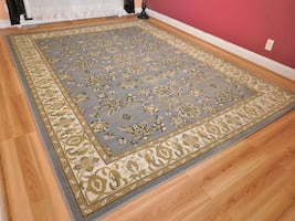 New Blue Traditional rugs Gold 5x8 Rug