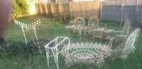 17 PIECES WROUGHT IRON FURNITURE Metairie, 70006