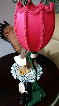 Bald Eagle base lamp with pink lampshade Fairfax, 22030
