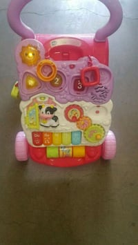 baby's pink and white activity walker Oxnard
