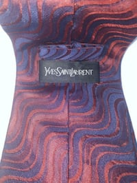 Authentic Yves St.Laurent Red&Blue Silk Neck Tie Winnipeg, R3T 2R3