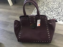 Brand New! Large Burgundy Studded Purse