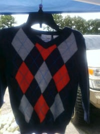 black and red argyle sweater Lithonia, 30058