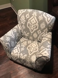 Black and white floral fabric sofa chair Rockaway, 07866
