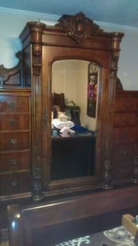 brown wooden cabinet with mirror Mobile, 36605
