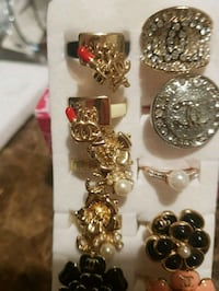 NEW, CHANEL,silver/gold-colored rings, lot,$6 each London, N6K 2X6